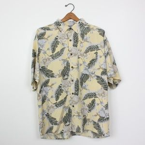 450c1734b9adb Vintage Silk Hawaiian Button Down Shirt